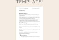 Freelance Business Plan Template (Free Download within New Marketing Plan For Small Business Template