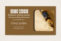 Freelance Writer Business Cards & Templates | Zazzle intended for Freelance Business Card Template