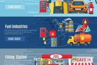 Gas Station Banners Set – Download Free Vectors, Clipart inside Petrol Station Business Plan Template