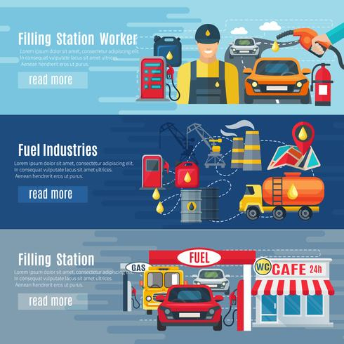 Gas Station Banners Set - Download Free Vectors, Clipart inside Petrol Station Business Plan Template