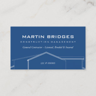 General Contractor Business Cards & Templates | Zazzle intended for General Contractor Business Plan Template