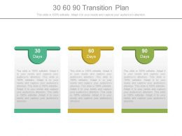 Get 30 60 90 Day Plan Powerpoint Presentation Templates with Best Business Process Transition Plan Template