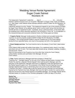 Get Wedding Venue Rental Agreement Form Samples To Submit inside Wedding Venue Business Plan Template