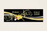 Graduation Name Card Business Cards & Templates   Zazzle inside Graduate Student Business Cards Template