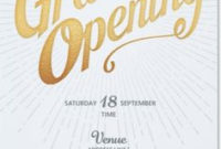 Grand Opening Invite | Invites | Grand Opening Invitations for Fresh Business Open House Invitation Templates Free