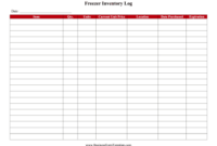 Great For Weekly Inventory Purposes, This Printable Log for Small Business Inventory Spreadsheet Template