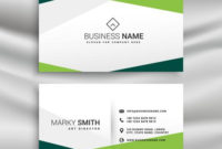 Green And White Business Card With Abstract Geometric throughout Fresh Black And White Business Cards Templates Free