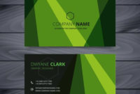 Green Business Card Design Template – Download Free Vector inside Web Design Business Cards Templates