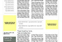 Green-Gray-4-Page-Newsletter – Word Templates For Free regarding Business Reply Mail Template