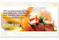 Grocery Bag Business Card Template, Layout. Download inside Best Grocery Store Business Plan Template