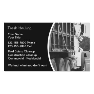 Hauling Dumpster Business Cards for Fresh Transport Business Cards Templates Free