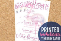 Hen Party Itinerary | Etsy pertaining to Bachelorette Party Agenda Template