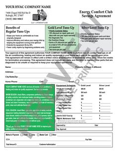 Here Is A Tune-Up Checklist Invoice That Does Double Duty within Free Hvac Business Plan Template