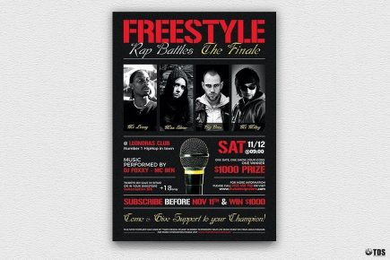 Hip Hop Connection Flyer Template | Free Posters Design with Best Free Dance Studio Business Plan Template