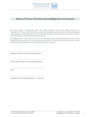 Hipaa Consent Form - Dental Associates Of Connecticut Fill inside New Business Associate Agreement Hipaa Template
