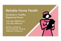 Home Health Aide Business Cards & Templates | Zazzle with regard to Medical Business Cards Templates Free