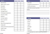 Home Inspection Checklist – My Excel Templates intended for New Moving Company Business Plan Template