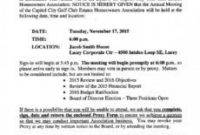 Homeowners Association Meeting Agenda Template in Frg Meeting Agenda Template