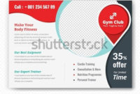 Horizontal Fitness Center Flyer & Poster Cover Template in Business Plan Template For Gym