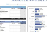 Household Financial Planner – My Excel Templates pertaining to Excel Templates For Retail Business