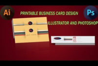 How To Design Print Ready Business Card Illustratot for Best Create Business Card Template Photoshop