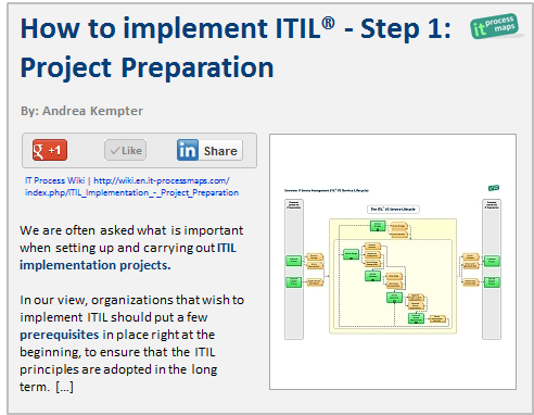 How To Implement Itil: Step 1 -- Project Preparation in Business Data Dictionary Template