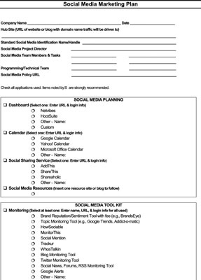 How To Set Up Your Social Media Marketing Plan - Dummies inside Quality Social Media Marketing Business Plan Template