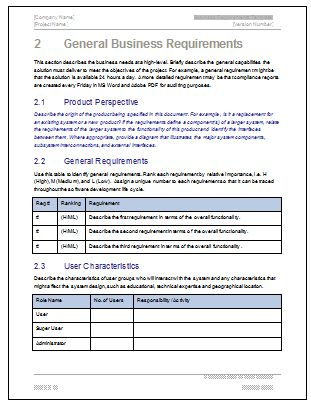 How To Write A Business Requirements Document (Brd intended for Best How To Develop A Business Plan Template