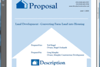 How To Write Your Own Real Estate Land Development pertaining to Business Sale Proposal Template