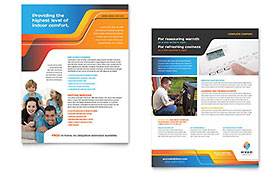Hvac Flyer & Ad Template - Word & Publisher within Hvac Business Card Template