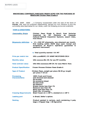 Icpo Doc Template | Pdffiller with regard to Quality Free Poultry Business Plan Template