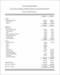 Income Statement For Non Profit Organization Template with Sample Non Profit Business Plan Template