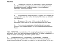 Independent Contractor Non-Compete Agreement Template throughout Unique Business Templates Noncompete Agreement