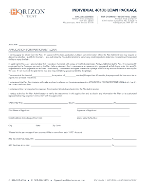 Individual 401K Loan - Fill Out Online, Download Printable inside Quality Business Proposal For Bank Loan Template