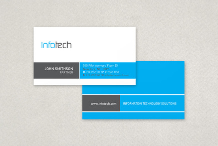 Information Technology Business Card Template   Inkd throughout Front And Back Business Card Template Word
