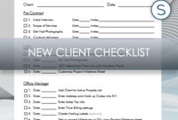 Interior Design Business | New Client Checklist For Studio for Business Process Questionnaire Template