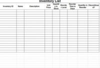 Inventory Sheet Template | Inventory Sheets Template pertaining to Very Simple Business Plan Template