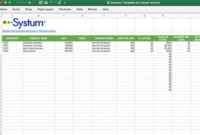 Inventory Templates: Google Sheets And Microsoft Excel with Fresh Business Listing Website Template