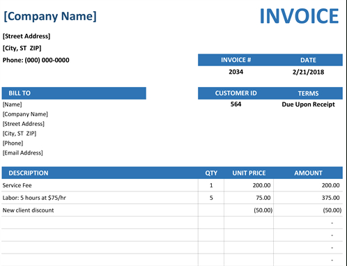 Invoices - Office with regard to Microsoft Business Templates Small Business