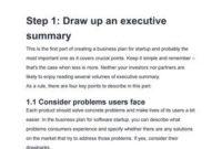 It Business Case Executive Summary Example with Executive Summary Template For Business Plan