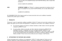 It Partnership Agreement Template in Unique Business Partnership Contract Template Free