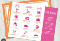 Itinerary | Etsy throughout Bachelorette Party Agenda Template