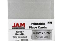 Jam Paper® Printable Place Cards, 3 3/4 X 1 3/4, Stardream regarding Gartner Business Cards Template