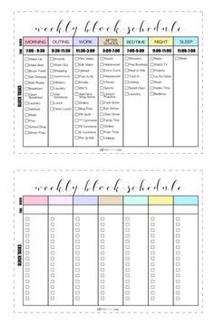 Jordan Page Block Schedule Template - Google Search In in One Year Business Plan Template