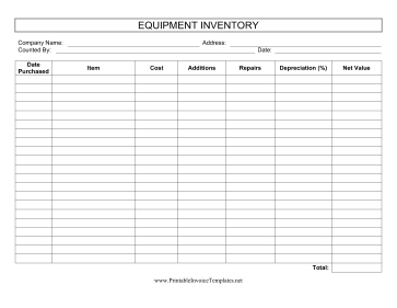 Keep Track Of The Overall Cost Of Equipment Purchases with Record Keeping Template For Small Business