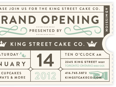King Street Cake Ticket | Ticket Design, Grand Opening within Best Business Launch Invitation Templates Free