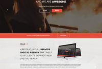 Krefolio Design Agency Free Responsive Bootstrap Template regarding Bootstrap Templates For Business