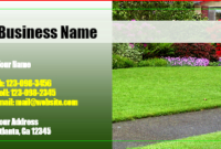 Landscaping Business Cards   Designsnprint inside Quality Landscaping Business Card Template