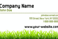 Landscaping Business Cards, Lawn Care Busines Cards with regard to Best Gardening Business Cards Templates