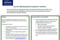 Law Firm Marketing Plan Sample/ Template | Sample Law Firm for New Consulting Business Plan Template Free